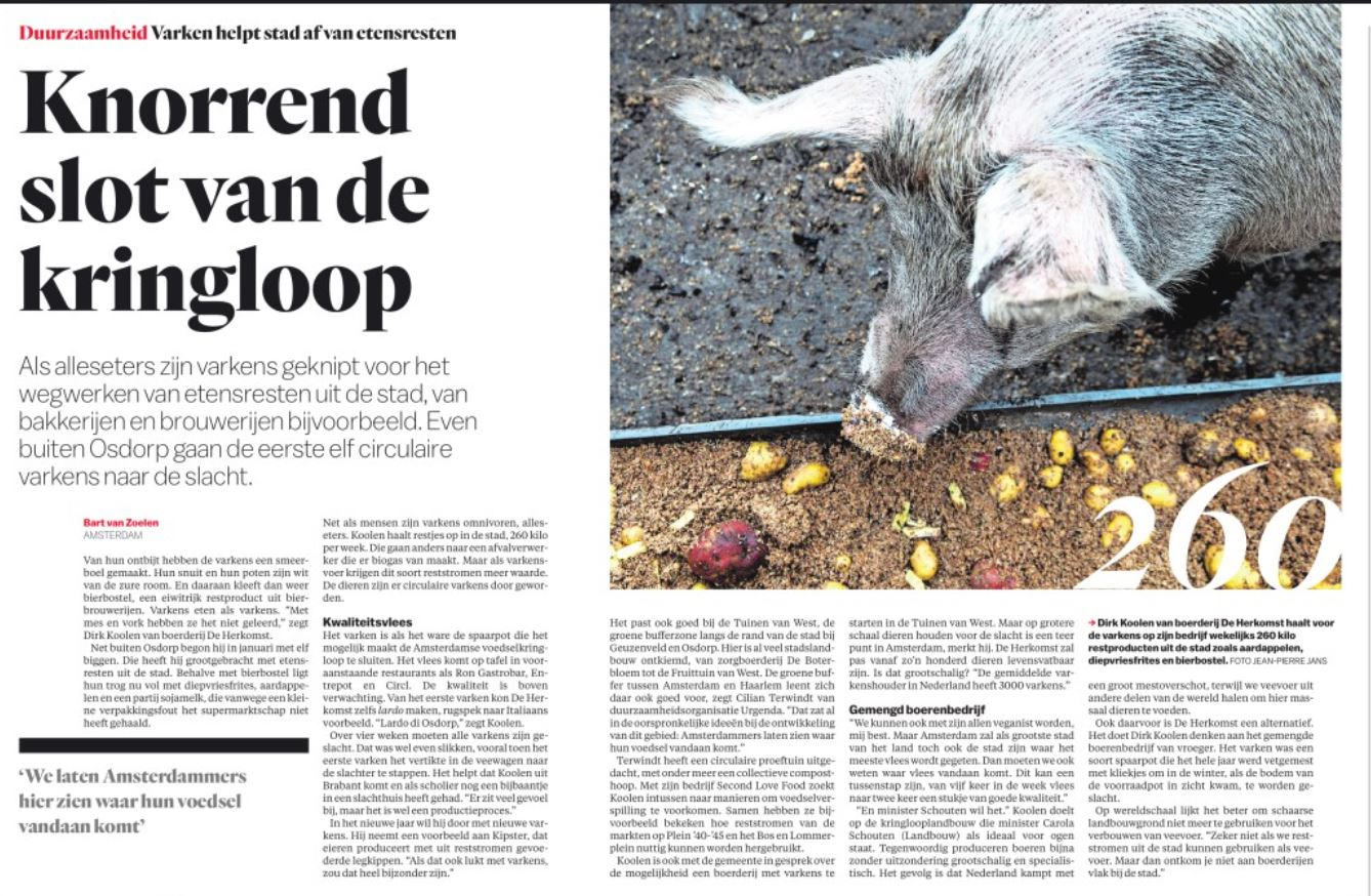 Second love food  in Het Parool en op de radio